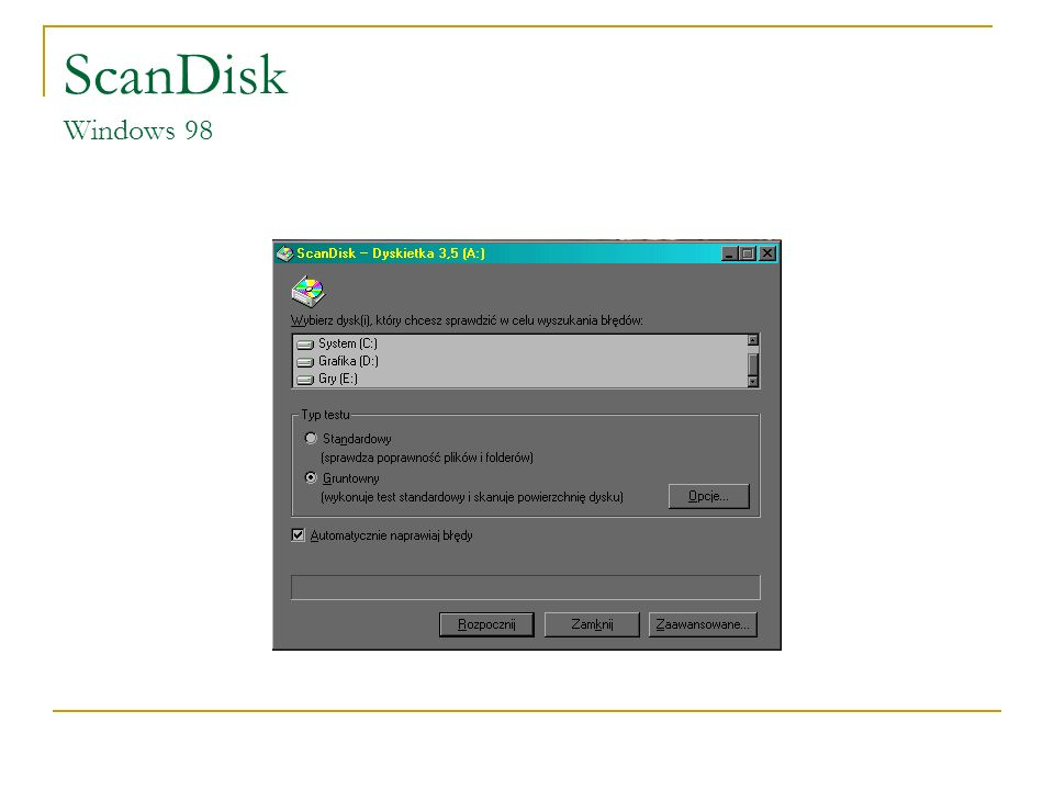 ScanDisk Windows 98