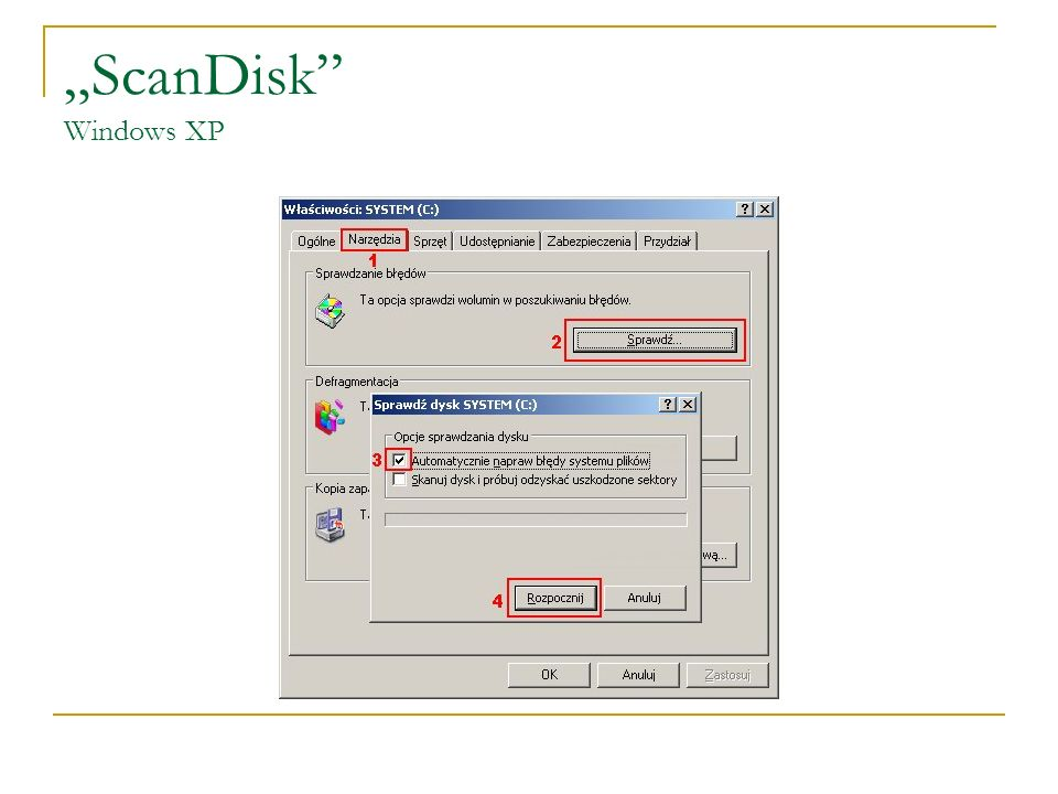 """ScanDisk Windows XP"
