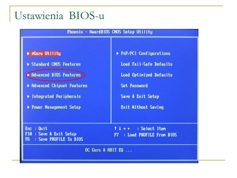 Ustawienia BIOS-u