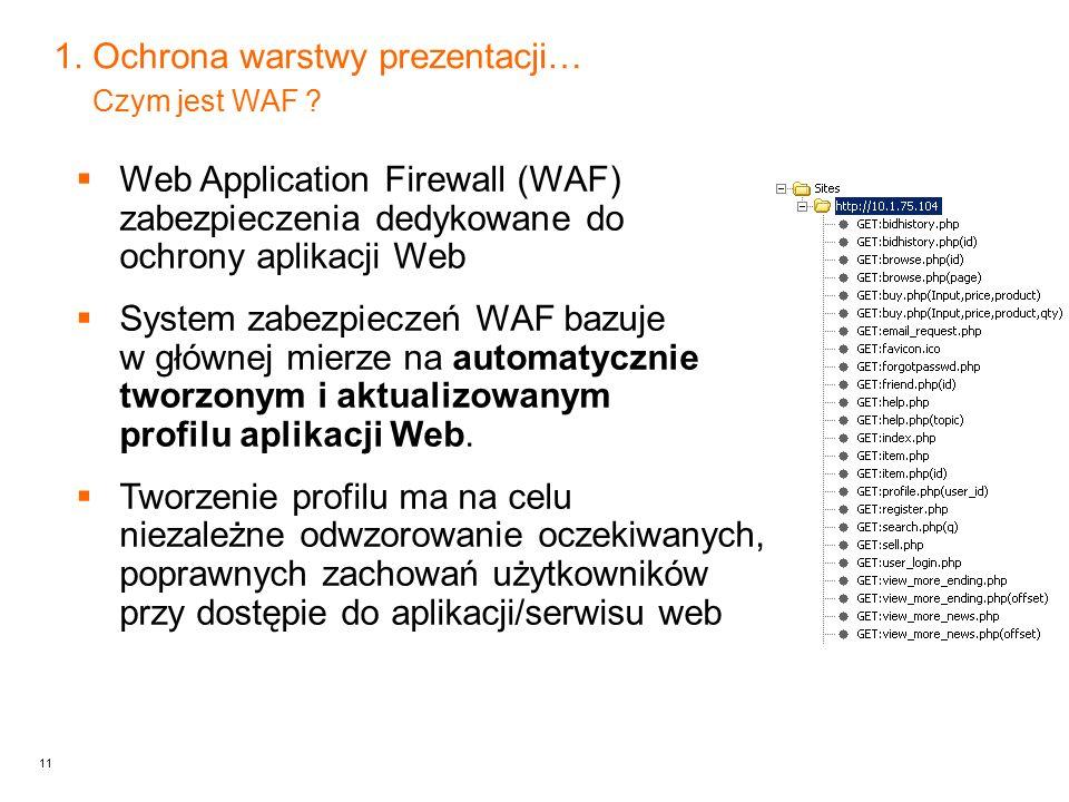 11 1.Ochrona warstwy prezentacji… Czym jest WAF .