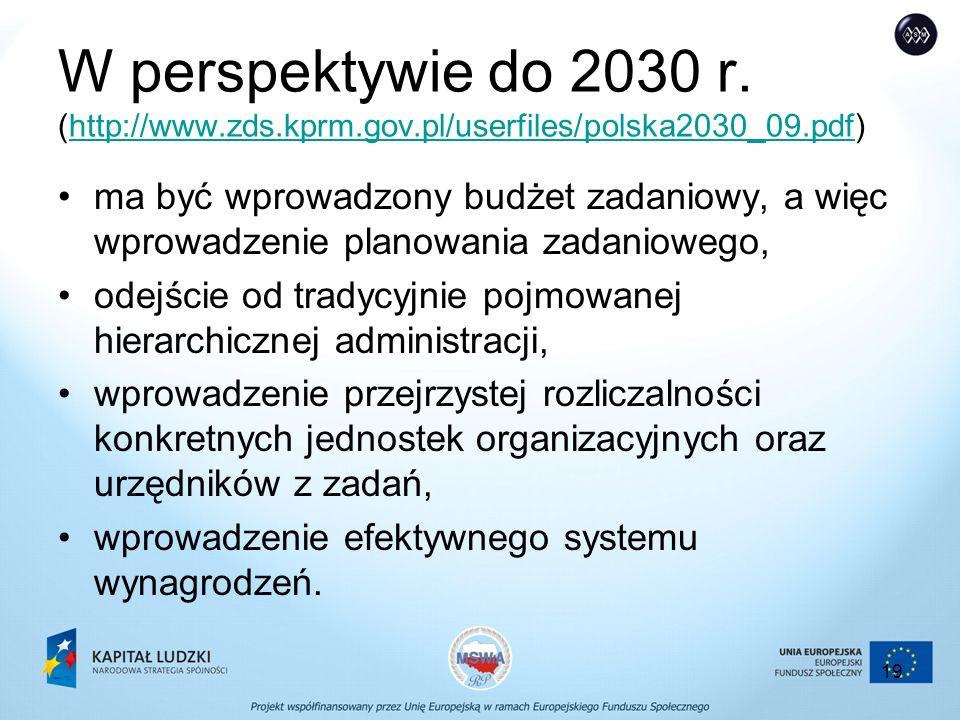 19 W perspektywie do 2030 r.