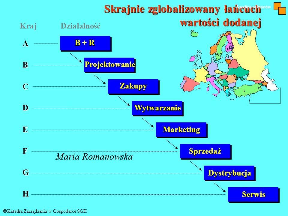 PROFIL GLOBALIZACYJNY FIRMY ALFA © Katedra Zarządzania w Gospodarce SGH