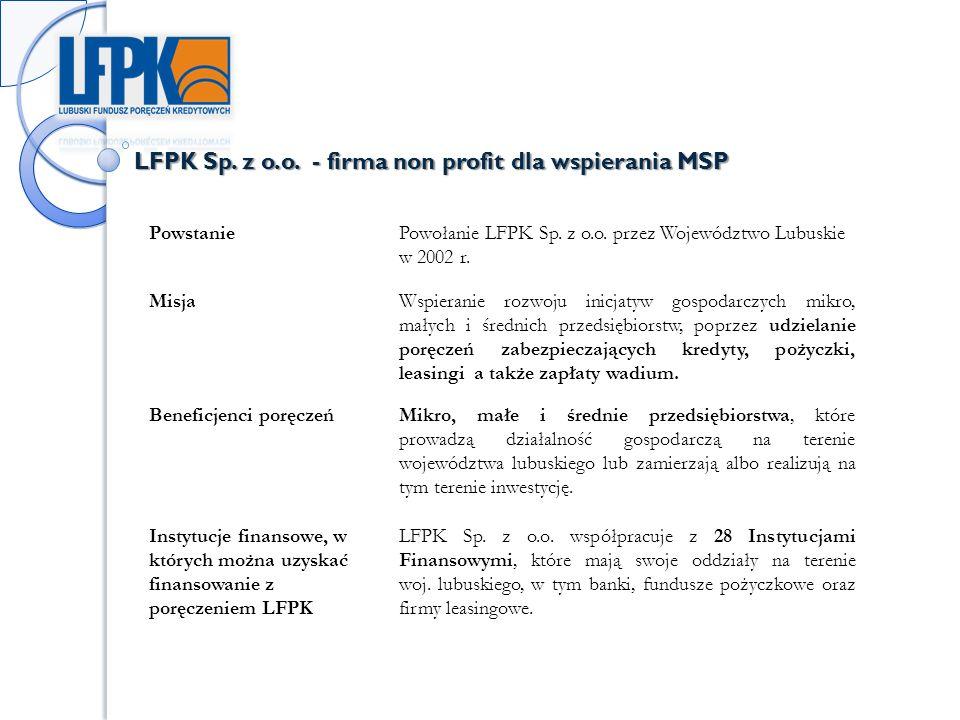 LFPK Sp. z o.o. - firma non profit dla wspierania MSP PowstaniePowołanie LFPK Sp.