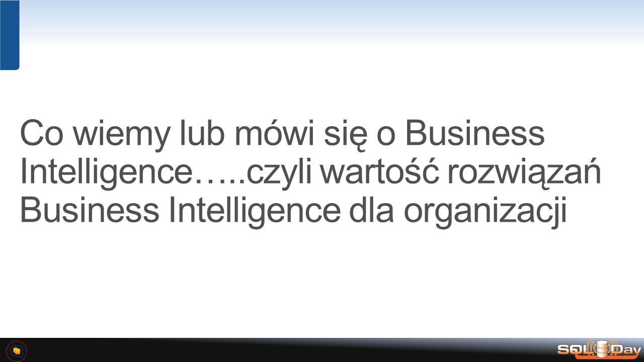 Dostęp do danych stwarza możliwość podejmowania bardziej wartościowych decyzji biznesowych Eksplozja źródeł danych….