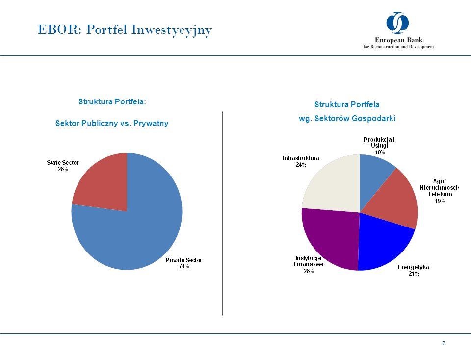 EBOR: Portfel Inwestycyjny 7 Struktura Portfela: Sektor Publiczny vs.