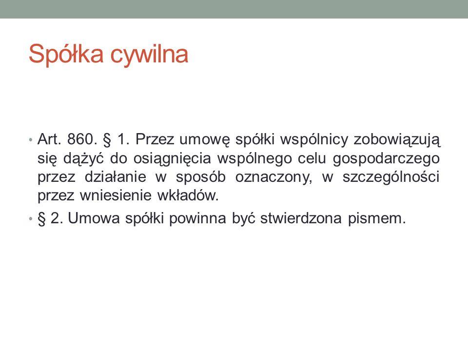 Wystąpienie ze spółki cywilnej - rozliczenia Art.871.