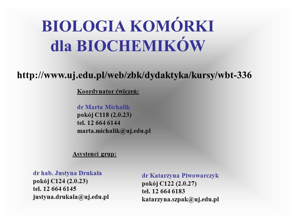 WPŁYW ANESTETYKÓW NA RUCHLIWOŚĆ KOMÓREK ZWIERZĘCYCH Zalecana literatura: Podstawy Biologii Komórki.