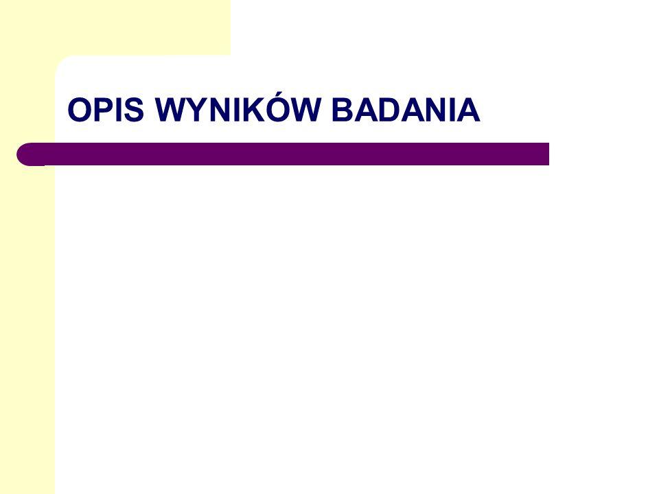 OPIS WYNIKÓW BADANIA