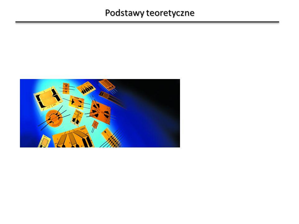 Przypadki obciążenia – obciążenia wzdłużne (osiowe) Można również zastosować cztery tensometry w układzie pełnego mostka.