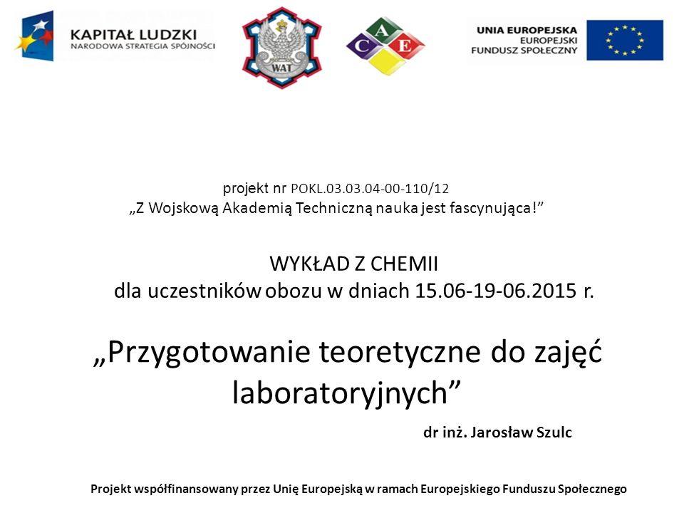 Wykonanie doświadczenia chemicznego Podstawowe zasady bezpieczeństwa Instrukcja Obserwacje (spostrzeżenia dokonane za pomocą organów zmysłu): Zmiana barwy, obecność produktów gazowych, powstanie zapachu, efekty dźwiękowe, wytrącenie osadu, zmiana temperatury układu) Wnioski: stwierdzenia sformułowane na podstawie obserwacji i znanych praw chemicznych, równanie reakcji chemicznej jako uzupełnienie wniosków