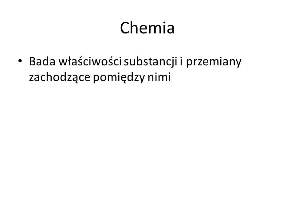 Substancja chemiczna Materia - budulec obiektów, które można zaobserwować we wszechświecie (wszystko co zajmuje przestrzeń) Substancja – coś co istnieje ma określone własności (kształt nie jest istotny) Substancja chemiczna - substancja jednorodna, o stałym (niezmiennym) składzie chemicznym