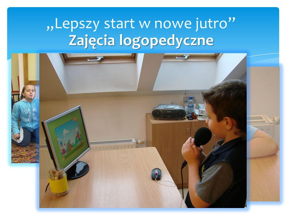 """Zajęcia logopedyczne """"Lepszy start w nowe jutro Zajęcia logopedyczne"""