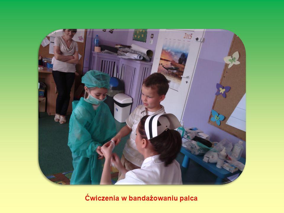 Ćwiczenia w bandażowaniu palca