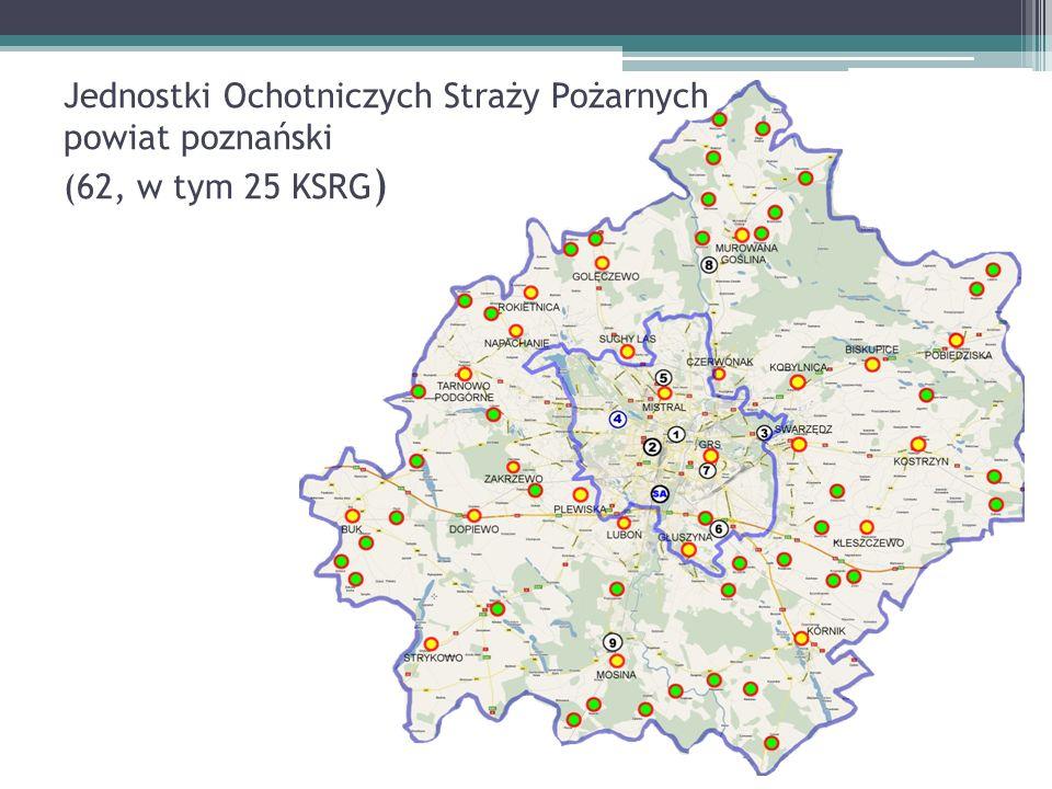 OSP w rejonie JRG-3 OSP w KSRG: OSP Pobiedziska, OSP Biskupice, OSP Swarzędz, OSP Kobylnica, OSP Kostrzyn,.