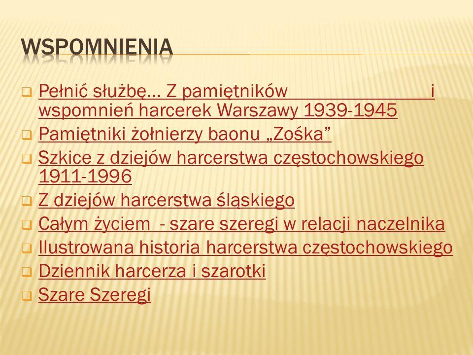  Pełnić służbę… Z pamiętników i wspomnień harcerek Warszawy 1939-1945 Pełnić służbę… Z pamiętników i wspomnień harcerek Warszawy 1939-1945  Pamiętni