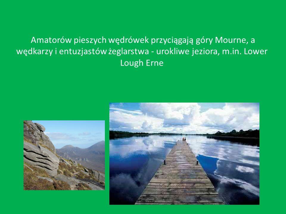 Amatorów pieszych wędrówek przyciągają góry Mourne, a wędkarzy i entuzjastów żeglarstwa - urokliwe jeziora, m.in.