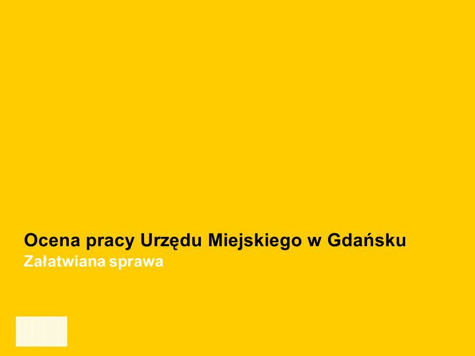 Ocena jakości pracy oraz obsługi klientów Urzędu Miejskiego w Gdańsku - GRUDZIEŃ 2006 16 Ocena pracy Urzędu Miejskiego w Gdańsku Załatwiana sprawa