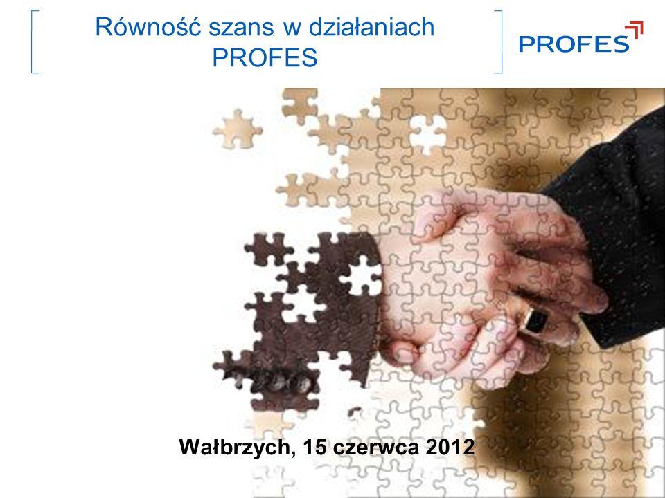 Równość szans w działaniach PROFES Wałbrzych, 15 czerwca 2012