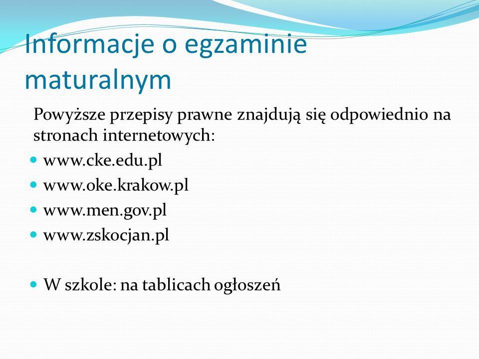 Komunikaty Dyrektora CKE Komunikat dyrektora Centralnej Komisji Egzaminacyjnej z 27 kwietnia 2015 r.