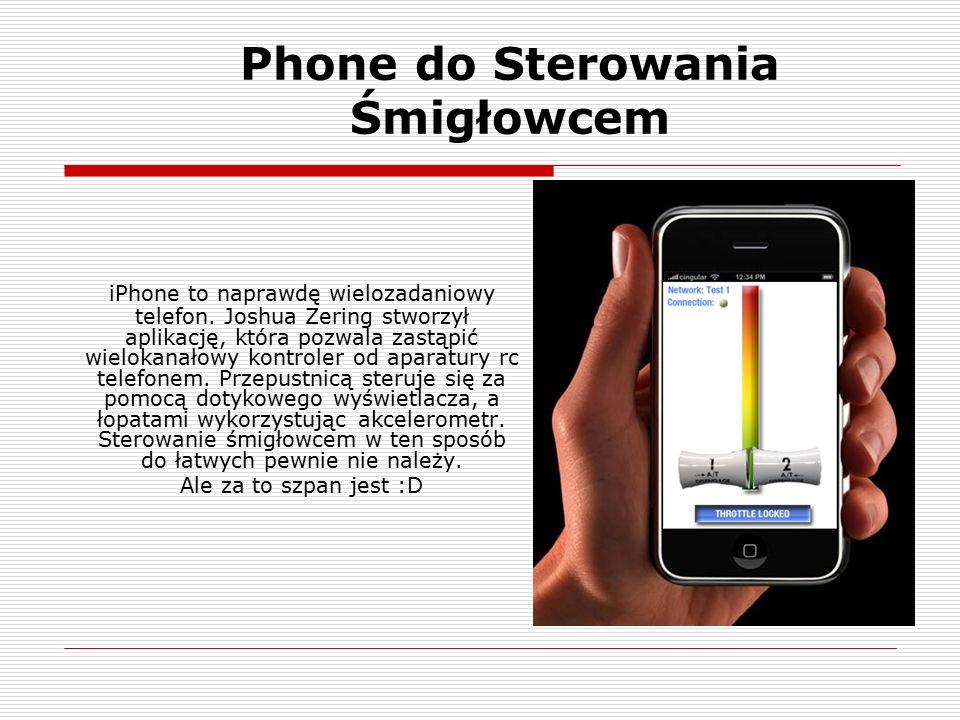 Phone do Sterowania Śmigłowcem iPhone to naprawdę wielozadaniowy telefon.