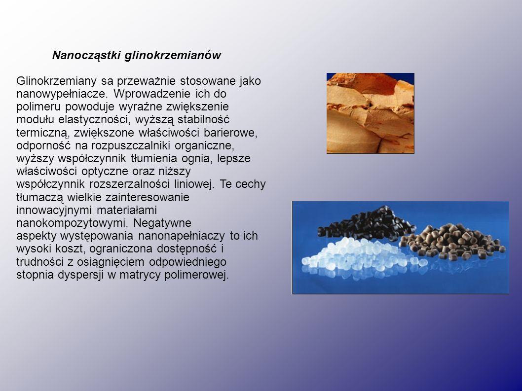 Nanocząstki glinokrzemianów Glinokrzemiany sa przeważnie stosowane jako nanowypełniacze.