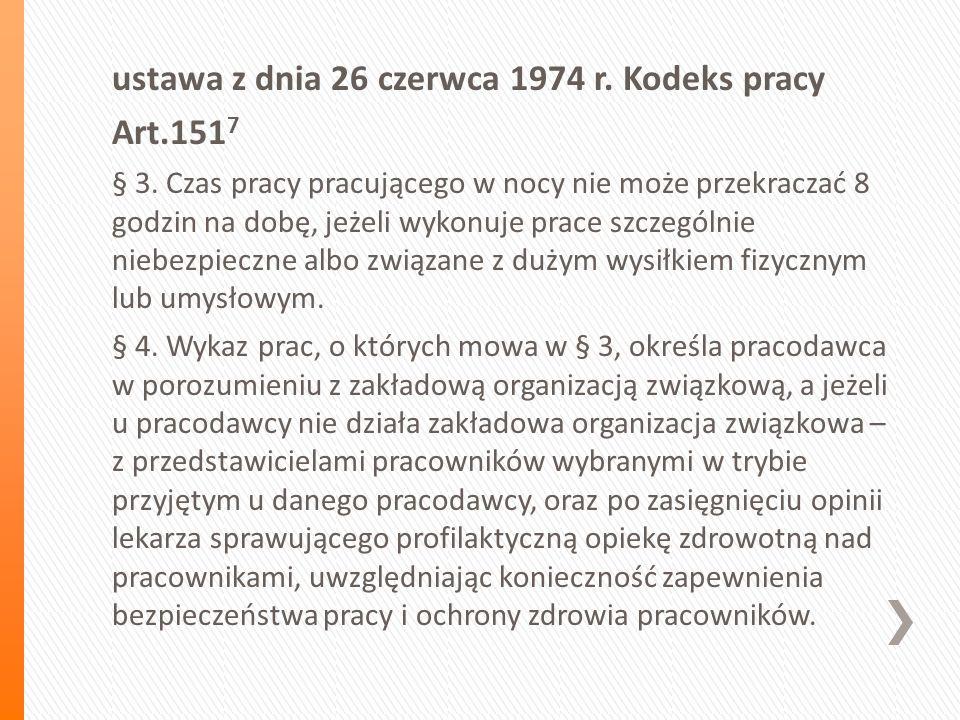 ustawa z dnia 26 czerwca 1974 r. Kodeks pracy Art.151 7 § 3.