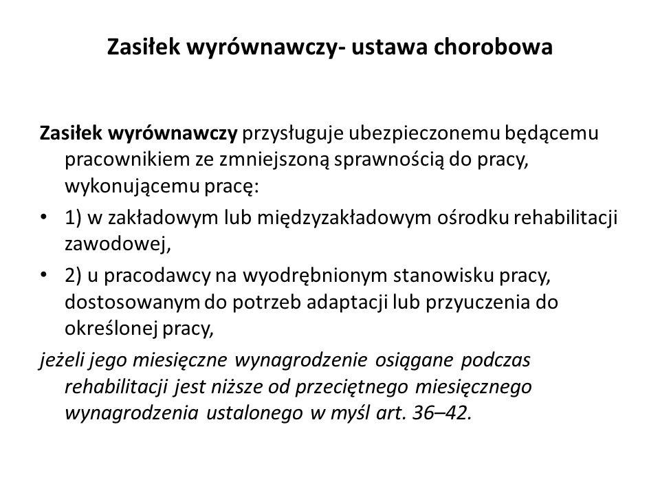 Zasiłek macierzyński - kodeks pracy; ustawa chorobowa Zasiłek macierzyński przysługuje ubezpieczonej, która w okresie ubezpieczenia chorobowego albo w okresie urlopu wychowawczego: 1)urodziła dziecko; 2)przyjęła na wychowanie dziecko w wieku do 7 roku życia, a w przypadku dziecka, wobec którego podjęto decyzję o odroczeniu obowiązku szkolnego - do 10 roku życia, i wystąpiła do sądu opiekuńczego w sprawie jego przysposobienia; 3)przyjęła na wychowanie w ramach rodziny zastępczej, z wyjątkiem rodziny zastępczej zawodowej niespokrewnionej z dzieckiem, dziecko w wieku do 7 roku życia, a w przypadku dziecka, wobec którego podjęto decyzję o odroczeniu obowiązku szkolnego - do 10 roku życia.