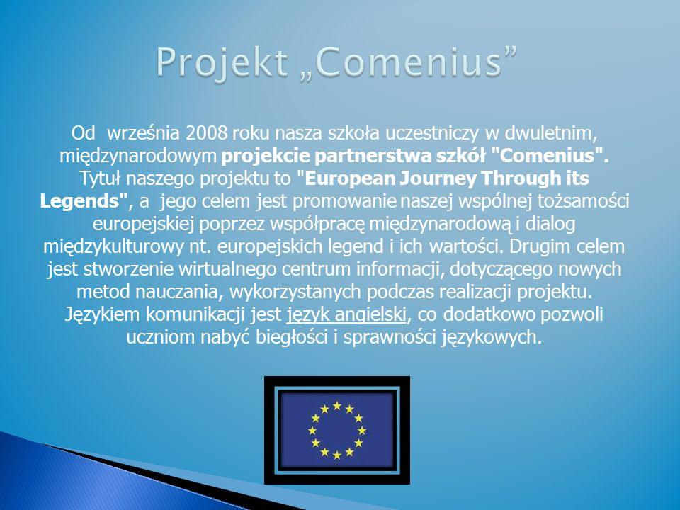Od września 2008 roku nasza szkoła uczestniczy w dwuletnim, międzynarodowym projekcie partnerstwa szkół Comenius .
