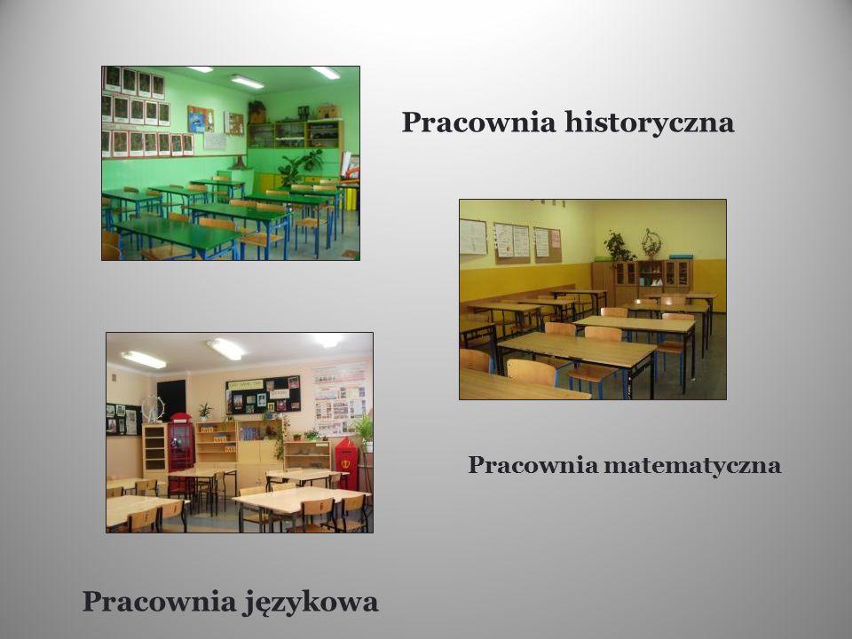 Pracownia historyczna Pracownia językowa Pracownia matematyczna