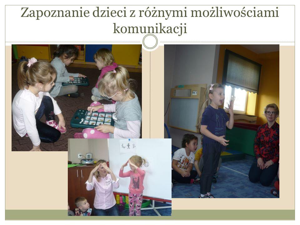 Zapoznanie dzieci z różnymi możliwościami komunikacji