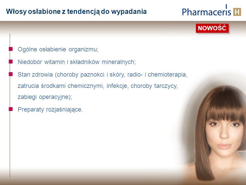 Ogólne osłabienie organizmu; Niedobór witamin i składników mineralnych; Stan zdrowia (choroby paznokci i skóry, radio- i chemioterapia, zatrucia środk