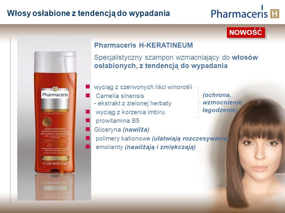 Pharmaceris H-KERATINEUM Specjalistyczny szampon wzmacniający do włosów osłabionych, z tendencją do wypadania wyciąg z czerwonych liści winorośli Came