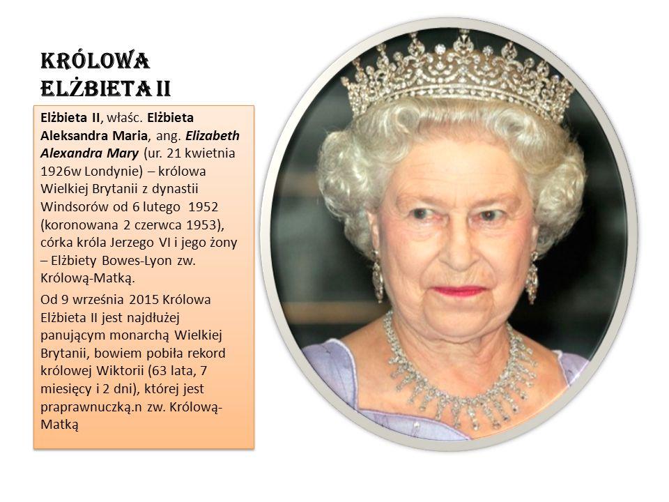 KrÓlowa el Ż bieta ii Elżbieta II, właśc. Elżbieta Aleksandra Maria, ang.