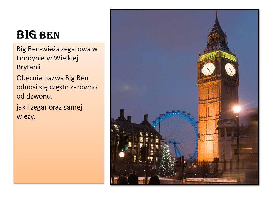 Big Ben Big Ben-wieża zegarowa w Londynie w Wielkiej Brytanii.