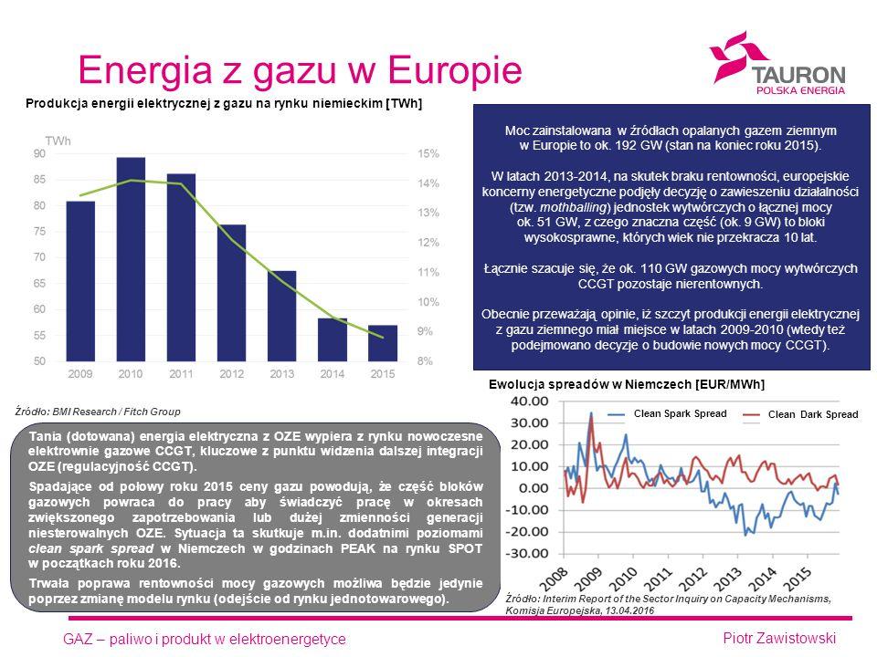 GAZ – paliwo i produkt w elektroenergetyce Piotr Zawistowski Perspektywa paliwa Perspektywa klienta