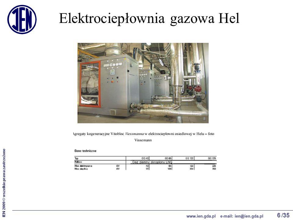 /35 IEN 2009 © wszelkie prawa zastrzeżone www.ien.gda.pl e-mail: ien@ien.gda.pl 6 Elektrociepłownia gazowa Hel