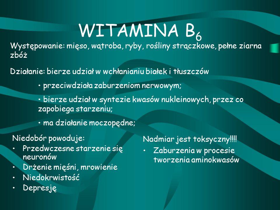 WITAMINA B 6 Nadmiar jest toksyczny!!!.