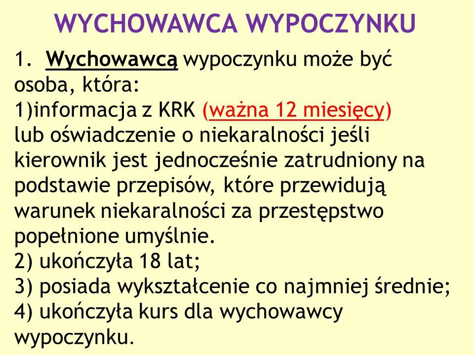 WYCHOWAWCA WYPOCZYNKU 1.
