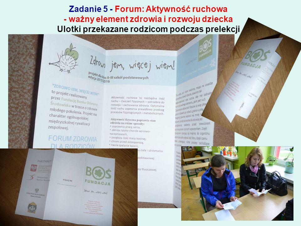 Zadanie 4 - Promocja podjętych działań w szkole Promocja w prasie lokalnej
