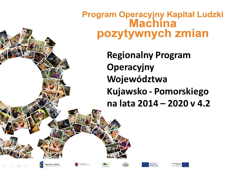 Regionalny Program Operacyjny Alokacja Alokacja RPO 1 901,7: EFRR: 1 371,3 – 72,11%EFS: 530,4 - 27,89% VIII Aktywni na rynku pracy :- 168 mln euro IX Solidarne społeczeństwo : - 124 mln euro X Innowacyjna Edukacja:- 127 mln euro XI Rozwój Lokalny Kierowany przez Społeczność- 49 mln euro Departament Spraw Społecznych