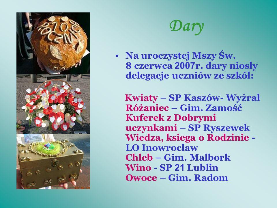 Nagrody QJF - Statuetki Perełki 8.06.2007r. na Mszy Św.
