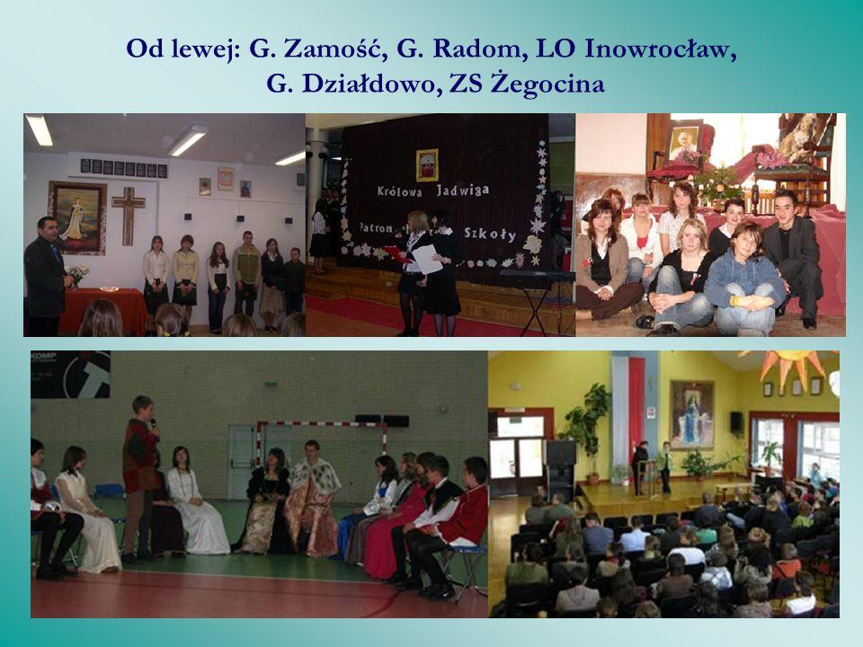 Tak obchodzono święta w szkołach Od lewej: SP Alfredówka, SP Ryszewek, ZS Sucha, SP 21 Lublin, SP Biała Podlaska, SP Białystok
