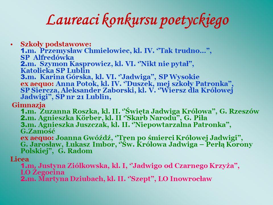 Internetowy Konkurs poetycki ŚW.