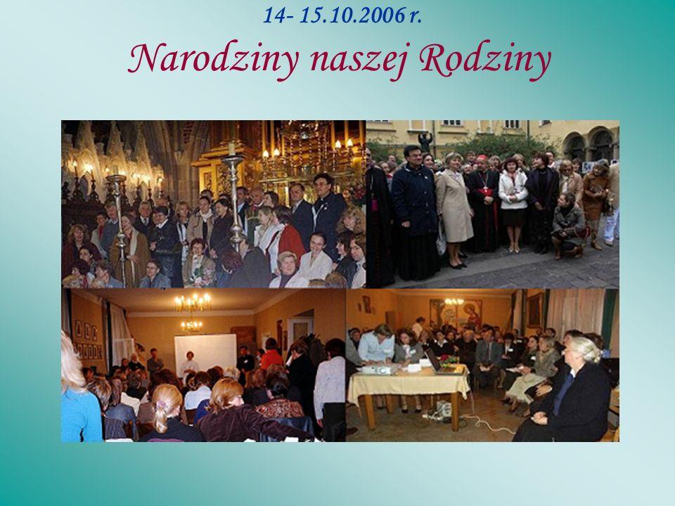 Nasze pierwsze spotkanie 14-15.10.2006r. Pierwsze spotkanie założycielskie Rodziny Szkół im.