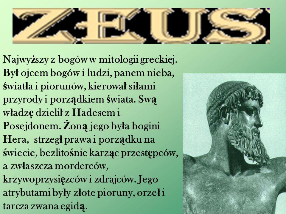 Najwy ż szy z bogów w mitologii greckiej.