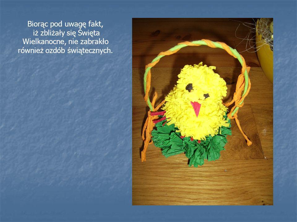 Biorąc pod uwagę fakt, iż zbliżały się Święta Wielkanocne, nie zabrakło również ozdób świątecznych.