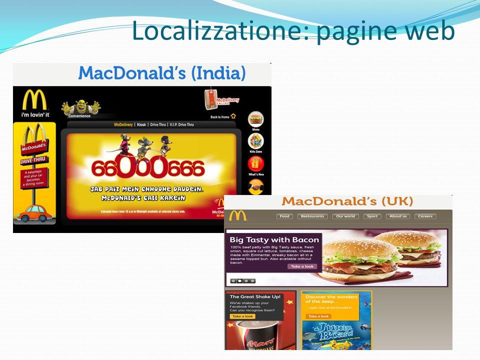 Localizzatione: pagine web