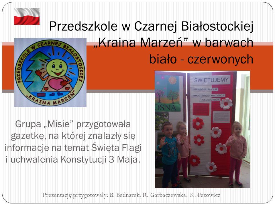 """Grupa """"Zajączki i """"Biedronki przygotowała dekorację, która ozdobiła nasz przedszkolny korytarz."""