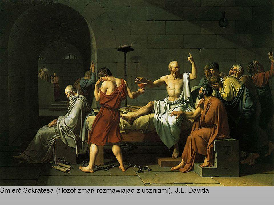 Śmierć Sokratesa (filozof zmarł rozmawiając z uczniami), J.L. Davida