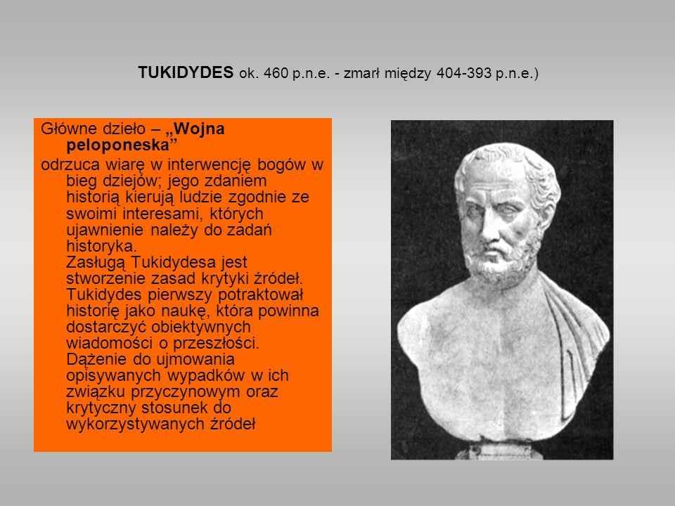 TUKIDYDES ok. 460 p.n.e.